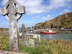 Cape Clear graveyard overlooking South Harbour