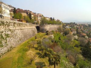 old city walls, bergamo