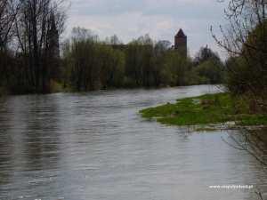 Oswiecim river, poland