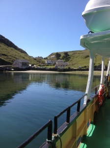 south harbour, cape clear, leavng on the ferry