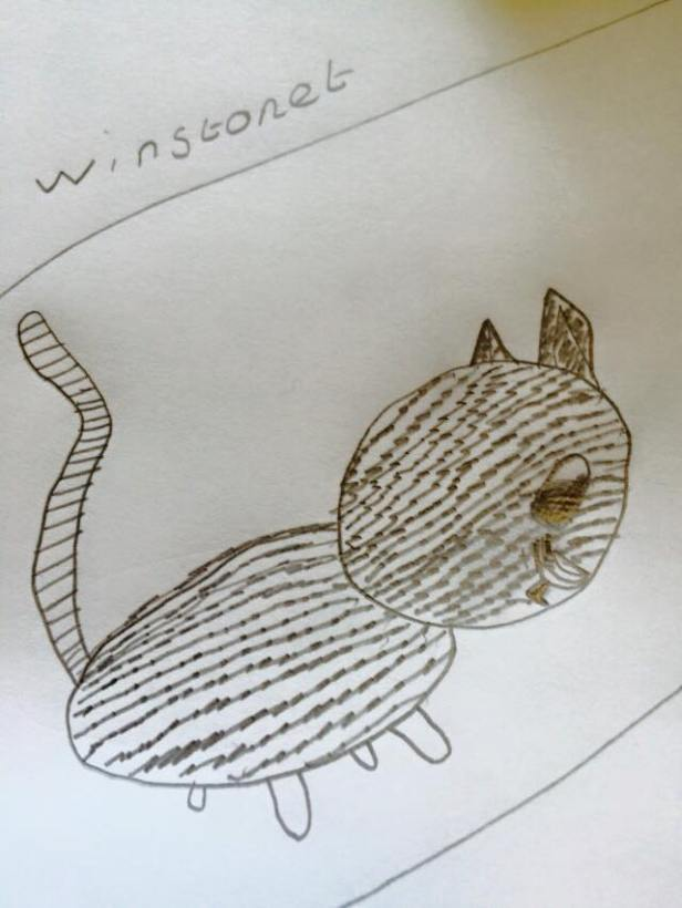 And a drawing of Winston